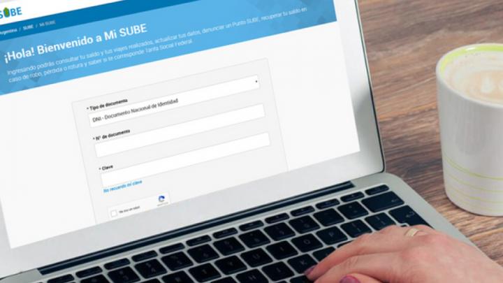 Por tareas de mantenimiento, la web de la tarjeta Sube no funcionará durante el fin de semana