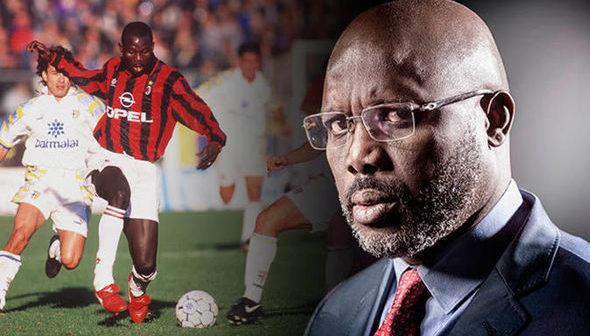 El liberiano que brilló en EuropaGeorge Weah, de goleador a presidente