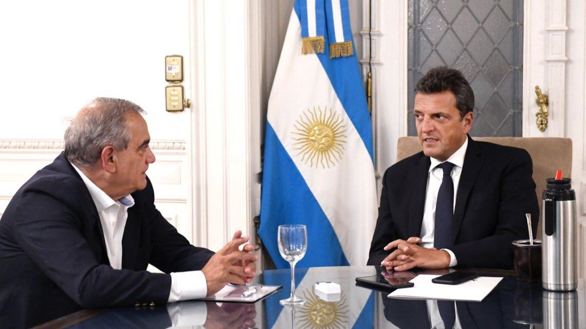 Massa se reunió con el presidente de Coninagro: abordaron la agenda legislativa del campo