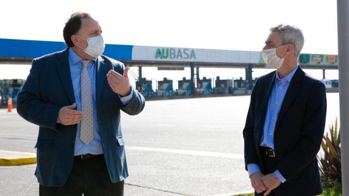 Planes a futuroMario Meoni y Facundo Moyano se reunieron con Javier Osuna en el centro de monitoreo de Aubasa