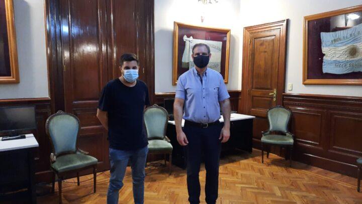 Articulación de Provincia con gobiernos municipalesFuncionario de Seguridad mantuvo una reunión con Esteban Santoro, jefe comunal de Madariaga
