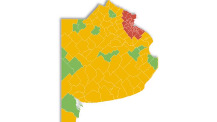 CoronavirusBuenos Aires: 40 municipios volvieron a fase 3 y 79 permanecen en fase 4