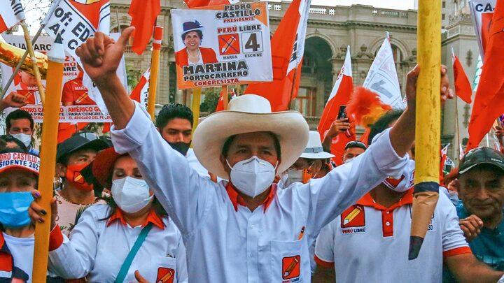 EleccionesTerminó el escrutinio en Perú y ganó Castillo