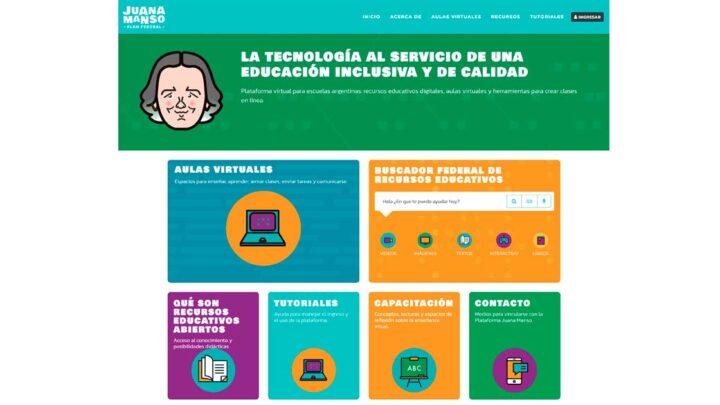 EducaciónPresentaron la plataforma educativa Juana Manso, que funcionará desde Educ.ar y sin consumo de datos