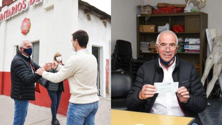El dinero será consignado a realizar mejoras integrales en el cuartel.San Vicente entregó nueva ayuda económica a los Bomberos Voluntarios por $500.000